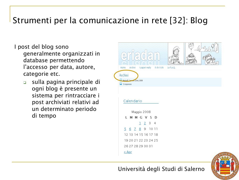 Strumenti per la comunicazione in rete [32]: Blog